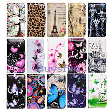Bcov Leopard Butterfly Paris Leather Wallet Cover Case For Samsung Galaxy