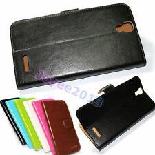PU Leather Protection Wallet Case Cover For Prestigio MultiPhone /u choose model