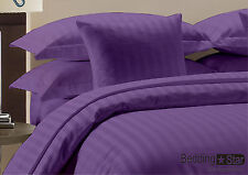 1000tc Super Soft Solid & Striped Purple All Size 100%EgyptianCotton.