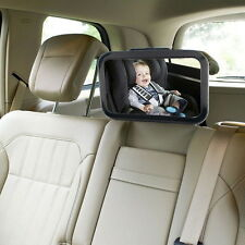 CAR REAR SEAT EASY LARGE WIDE VIEW BABY CHILD SAFETY MIRROR FITS TO HEAD REST FT