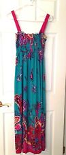 NEW WOMEN'S SUNDRESS BY PARIS PLNK MULTIPLE COLORS 100%POLYESTER JERSEY KNIT