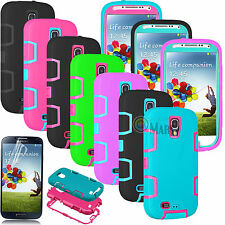 PC Rubber SHOCKPROOF DEFENDER HARD CASE COVER FOR SAMSUNG GALAXY S4 S IV I9500