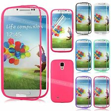 TPU CRYSTAL FLIP GEL SILICONE WRAP UP CASE COVER For Samsung Galaxy S4 IV i9500
