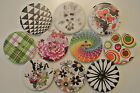 White Pattern 4 Holes Wood 30mm Sewing Buttons Scrapbooking etc