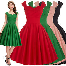2015 VINTAGE RETRO POLKA DOTS 50'S ROCKABILLY WIGGLE PIN UP PARTY COCKTAIL DRESS
