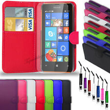 Microsoft Lumia 532 - Leather Wallet Case + Mini Stylus & Screen Protector