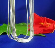 """5pcs solid 925Silver 1.2mm thick Snake Chains Necklaces 16""""-30"""" U pick size"""