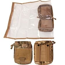 ARMY MAP CASE POUCH WEBBING WATERPROOF COVER MTP POUCH HOLDER OFFICER FOLDER