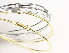 2 or 3 Inches Hoop Earrings - Silver or Gold...Basketball Wives UK Seller!