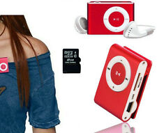 Mini Clip MP3 Player Bundle w/ Headphones-USB cable supports TF/sd card to 16GB