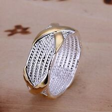 New wholesale Women Ring fashion Jewelry 925 sterling silver plated Size 6 7 8 9