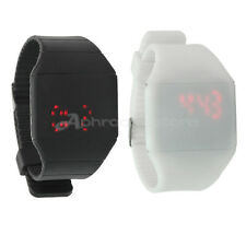 Silicone Band Red LED Display Time Touch Digital Bracelet Waterproof Wristwatch