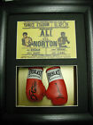 Muhammad Ali/Ken Norton Mini Signed Boxing Gloves Framed