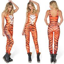 New Adult Women's Sexy Tigress Stripes Tiger Cat Suit Fancy Dress Party Costume