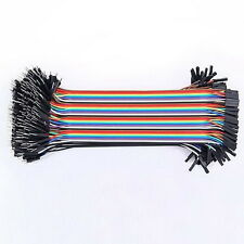 40PCS Dupont Wire Color Jumper Cable 2.54mm 1P-1P Male to Female 20cm New FTUU