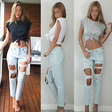New Fashion Sexy Women Sleeveless Camisole Shirt Summer Casual Blouse Crop Tops