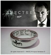 Bague Ring Anneau Metal Spectre James Bond 007 Size 8 (57) – 9 (59.5) – 10 (62)