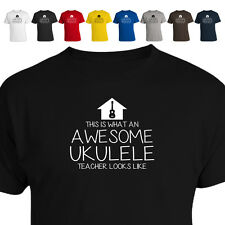 This is What An Awesome Ukulele Teacher Music Looks Like Gift T Shirt 011