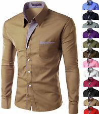 Camicia Uomo maniche lunghe Fashion SLimFit 126b Shirt Men 12 COLORS BEST PRICE!