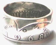 Coin Ring Made From 1968 40% Silver Kennedy Half - Sizes 8 thru 14
