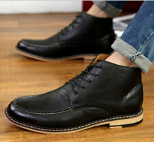 New Men's Casual Leather Lace Up Ankle Boots High Top Dress Shoes Oxfords N5