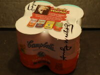 ANDY WARHOL... CAMPBELL'S TOMATO SOUP... 4 PACK... 2OO4 LIMITED EDITION