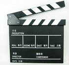 Director New Action Props Flim Movie Scene Clapper Slate Board Black 2lN