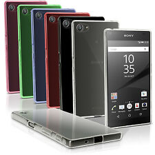 Glossy TPU Gel Case Skin for Sony Xperia Z5 Compact E5803 Cover + Screen Prot