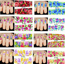 Nail Sticker Nagel Finger, Fuß nägel Tattoo Aufkleber Schmetterlinge, Blumen
