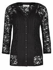 New M&S per una soft lace top with camisole 2 piece black blouse party 12 - 24