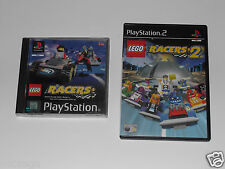 LEGO RACERS & LEGO RACERS 2 for PLAYSTATION 2 'VERY RARE & HARD TO FIND'