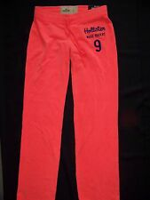 New Hollister Women's Velour Lounge SweatPants Size Small Orange NWT