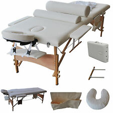 "84""L Massage Table Portable Facial SPA Bed W/Sheet+Cradle Cover+2 Bolster+H"