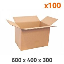 Caisse carton simple cannelure 600 x 400 x 300 mm (par 100)