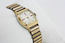 Benrus Art Deco Mechanical  Rare Vintage Watch With Genuine Gemstone Dial