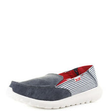 Pour femme hey dude shoes Ava marine à rayures confort slip on chaussures taille