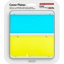 New Nintendo 3DS Cover Plates No 016 Blue & Yellow Transparent Faceplate (New)