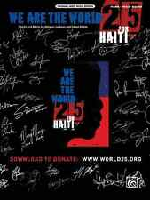We Are the World 25 for Haiti: Piano, Vocal, Guitar Sheet Music: Artists for