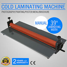 "39"" 1000MM COLD LAMINATOR LAMINATING MACHINE DESKTOP WIDE FORMAT 4 ROLLER GREAT"