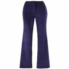 Ladies 'Fusions By East' Velvet Trousers- PURPLE - Size UK 24/28 -RRP £27 -NEW