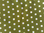 Micro Fleece Fabric.....Mini Dot Sage.....very cute and ditsy 100cm x 150cm