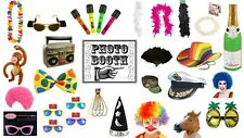 Photo booth props party fun anniversaire hen stag clown rainbow chapeau boa fancy dress