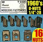 ★16 NOS AUVECO OLD U-NUTS 1960s 60's FENDER, MOLDING TRIM NUT 1/4-28 Fine THREAD
