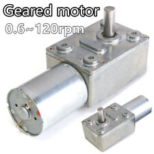 Metal Reversible High Torque Turbo Worm Geared Motor DC GW370 12V 2-100RPM