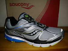 $130 NEW Mens 9 WIDE Saucony Echelon 4 Running Shoes NEUTRAL Blue Citron Silver