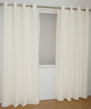 READY MADE RING TOP LINED VOILE CURTAINS EYELET TOP
