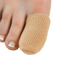 Fabric Lined Gel Toe Cap Protector. Painful Toes/Corns/Clawed/Hammer Toes.