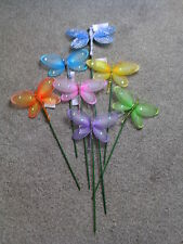 LARGE SPARKLE BUTTERFLY ON STICK GLITTER SEQUINS BEADS LENGTH 15 INCH