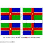 LINCOLNSHIRE County Flagge ENGLAND UK Fahne 50mm Vinyl Sticker Aufkleber x4