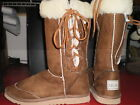 Ladies size 7 chestnut Lace up boot wool blend